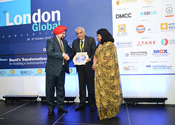 BPCL decorated with Golden Peacock Award 2018 at London