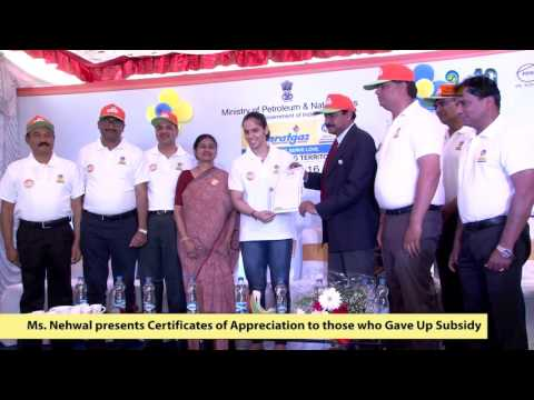 Saina Nehwal at BPCL Give-it-Up Campaign in Bengaluru