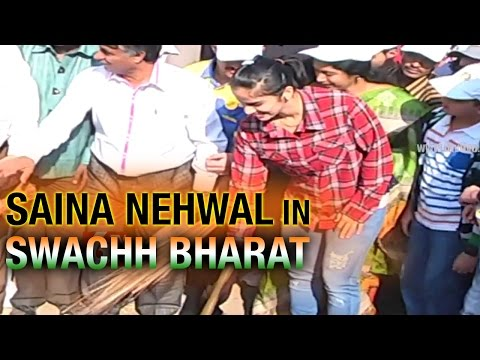 Saina Nehwal Joins Swachh Bharat Campaign with Bharat Petroleum - 6TV Telangana